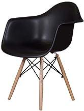 Mahmayi Plastic Ultimate Eames Style DAW Armchair, DSW_UES_DAC, DSW_UES_DAC, Black, H79 x W61 x D61 cm