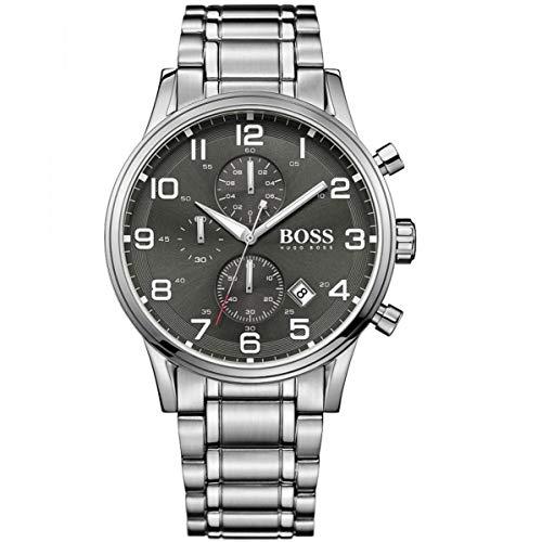 Hugo Boss Herren-Armbanduhr 44mm Armband Edelstahl + Gehäuse Batterie 1513181