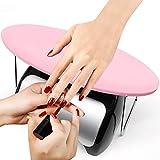 Apoyos Para las Manos, Reposabrazos de Uñas de Manicura para Arte de Uñas, Material de Cuero de Microfibra, Suave y Duradero (Rosado)