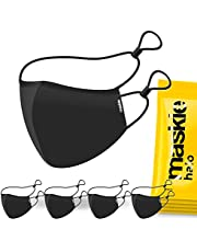 MASKIE Cotton Washable Face Mask Halo Reusable Breathable Cloth Face Covering with Adjustable Head Straps