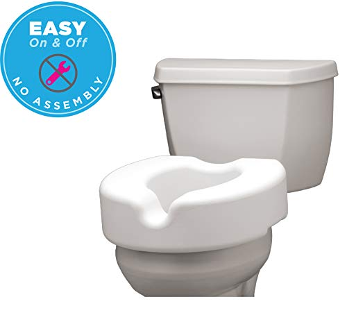 NOVA Elevated Raised Toilet Seat, Portable, Removable, for Standard and Elongated