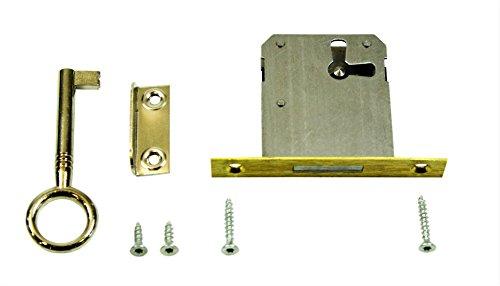 SN-TEC Einsteckschloss/Möbelschloss / Schrankschloss 35mm Dornmaß rechts/links/oben verwendbar incl. Zubehör