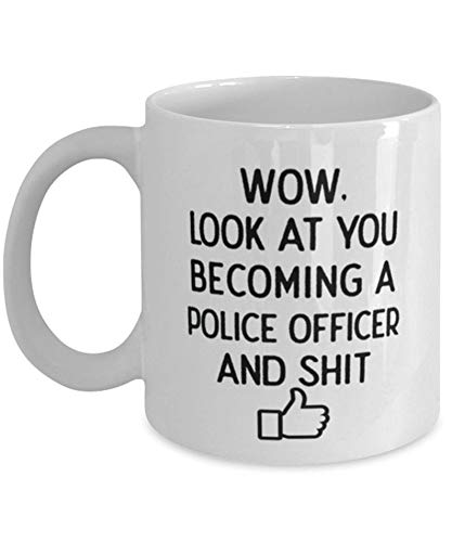 Look At You Police Officer Coffee Mug Police Academy Graduation Police Academy Graduation Party Police Officer Graduate