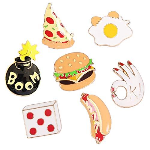 Miss charm Süßes Essen Burger Pizza Hot Dog Serie Drip Brosche Legierung Abzeichen