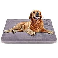 JoicyCo ペットベッド 犬ベッド 犬マット ペットマット あったか 保温 大型犬 クッション性抜群 足腰・関節にやさしい 老犬に 子犬 丁度いい厚さ カバーだけ洗う 清掃しやすい 多頭飼い 滑り止め 型崩れしない 通年使える 100*85*5cm(グレー L)