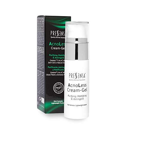 AcnoLess Cream-Gel Purifiant, astringent, matifiant, conçu pour lutter contre l'acné, les taches, les imperfections cutanées et la texture de peau irrégulière 30 ml.