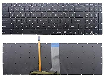 New US Black English Backlit Laptop Keyboard  Without palmrest  Replacement for MSI Steelseries GL62 GL72 Gaming Light Backlight