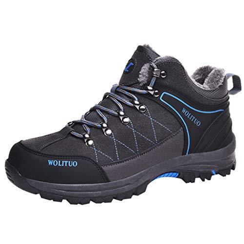 Benficial 2019 Shoes for Women Men,Couple Plus Cotton Warm Wear-Resistant Non-Slip Outdoor Hiking Shoes Grey