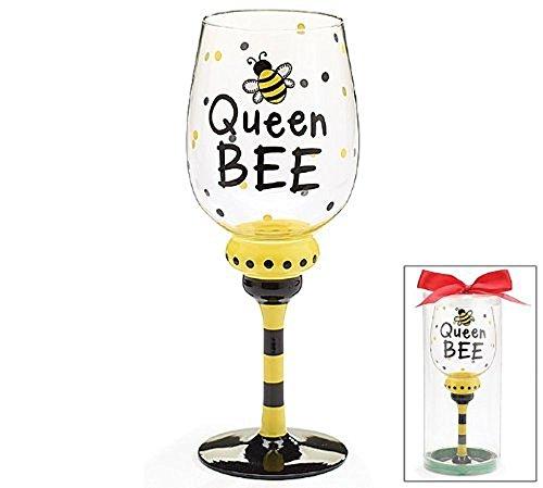 Queen Bee 16 oz Wine Glass