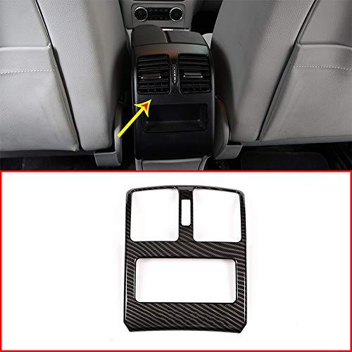 Style de Fibre de Carbone Accessoires Auto Plastique ABS Chrome Siège Climatisation Évent de Sortie Garniture pour GLK Classe X204