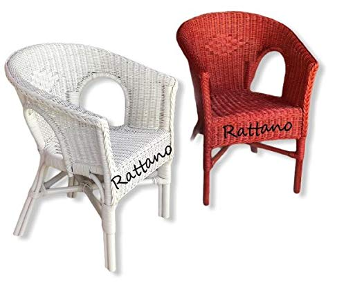 Rattan Chair White Red Dining Room Chair Rattan Furniture Rattan Chair Set of 2