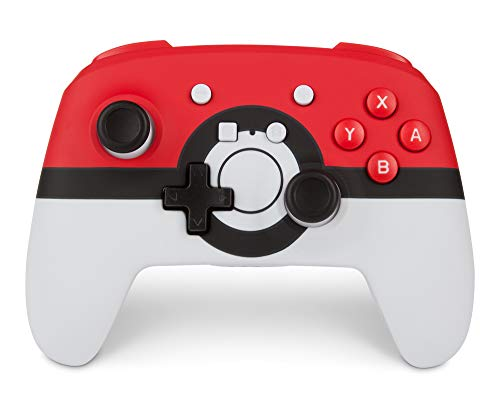 PowerA Enhanced Wireless Controller for Nintendo Switch: Pokemon Poke Ball Red - Nintendo Switch, Nintendo Switch Lite, Gamepad, game controller, Bluetooth controller, AA Battery