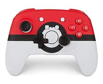 PowerA Enhanced Wireless Controller for Nintendo Switch  Pokemon Poke Ball Red - Nintendo Switch Nintendo Switch Lite Gamepad game controller Bluetooth controller AA Battery