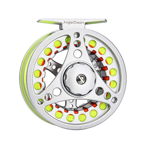 AnglerDream 5 6WT Fly Reel with Line Combo Large Arbor Aluminum Fly Fishing Reels