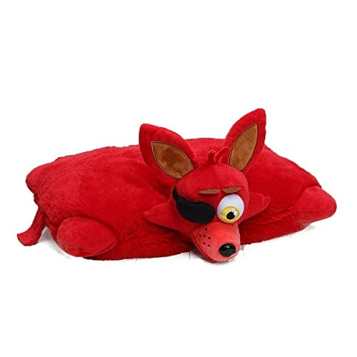 Thombi90 Store Sttufed Animal Five Nights at Freddy's Toy 43cm30cm FNAF Pillow Mangle Foxy Chica Bonnie Golden Freddy Fazbear Plush Toys Cushion juguetes-red