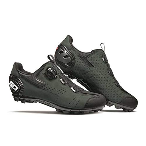 Sidi MTB Gravel Schuhe Herren Black/Dark/Green Schuhgröße EU 46 2021 Rad-Schuhe Radsport-Schuhe