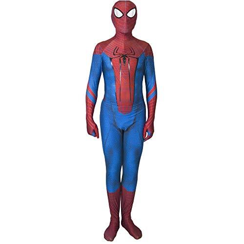 QQWE The Amazing Spider-Man Cosplay Bodysuit Spandex Jumpsuits Kostüm Kinder Erwachsene Rollenspiele Kleidung,Adult-L