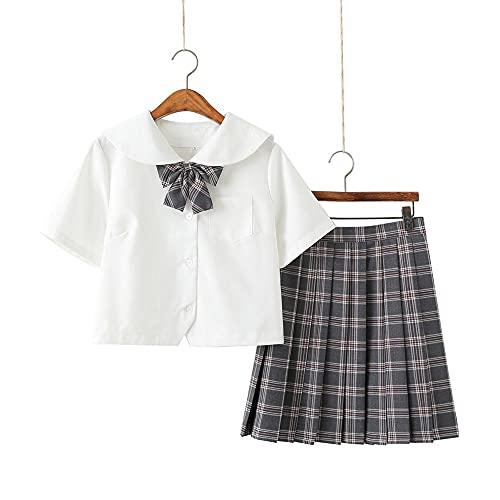 Zestaw Krótkiej Plisowanej Spódnicy dla Dziewczynki Damska Mini Spódniczka i Koszula y2k ze Skarpetami w łydki