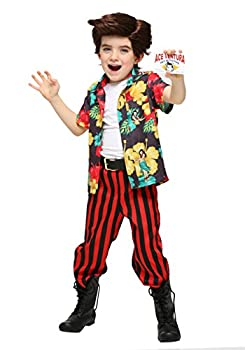 Toddler Ace Ventura Costume with Wig 4T Red