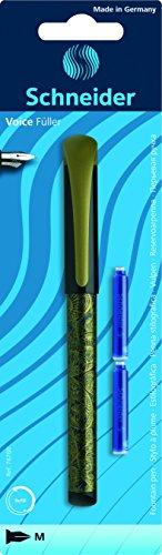 Schneider–Penna stilografica Voice, M, colori assortiti, confezione da 2cartucce