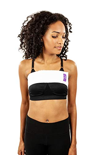 Compression Bandeau Bra Post Surgery Recovery, Breast Augmentation Bra (S122) White