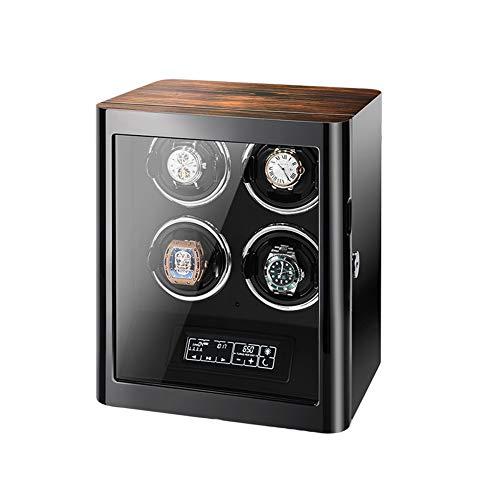Zyy Automático Cajas Giratorias para Relojes con Tranquilo Motor, por 4 Relojes, Pantalla Táctil Digital LCD Y 5 Modos De Roating, Pintura De Piano Bobinadora para Relojes (Color : C)