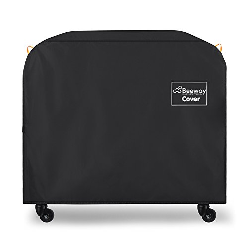 BEEWAY Barbecue Cover, BBQ Grill Cover - 210D Oxford Fabric, Water-Resistant, Indoor Outdoor Rain Dust Protection with Self-stick Straps and Storage Bag