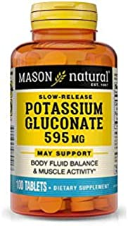 Mason Natural Potassium Gluconate 595 Mg Tablets, Extended Release - 100 Ea by Mason Natural