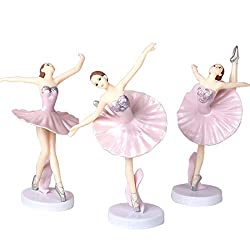 Pink Dancing Ballerina Girl Figurines