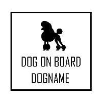 ForzaGroup 全犬種 全猫種対応 トイプードル4 (1958) 犬 イヌ いぬ dog 防水 車 ステッカー sticker シール 名前入れ 名前入り 14cm×14cm