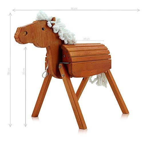 Sweety Toys 12909 Outdoor Gartenpferd Holzpferd EMMI Größe S 58 cm