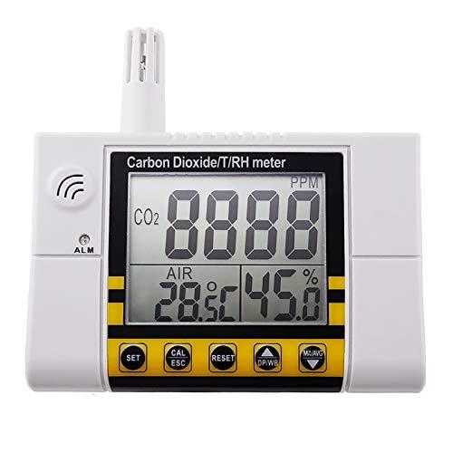 TEKCOPLUS Emperatura De La Calidad del Aire Interior RH 0~2000ppm Digital Wall Mount Dióxido De Carbono CO2 Monitor, Temperatura Y Sensor De Humedad Relativa