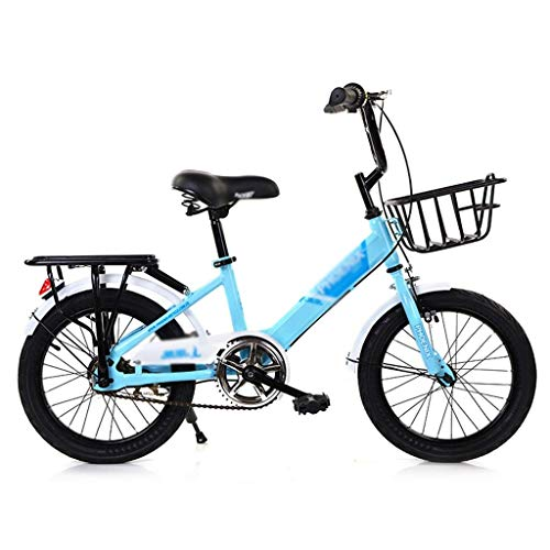 WJTMY Children's Bicycle,Girls Kids Bike 16 18 Inch Bicycle for 5-15 Years Old Child's Cycle with Training Wheels or Kickstand Bike (Color : A, Size : 18 inches)
