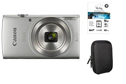 Canon Ixus 185 Silber Kit + 16GB SDHC Speicherkarte + Tasche