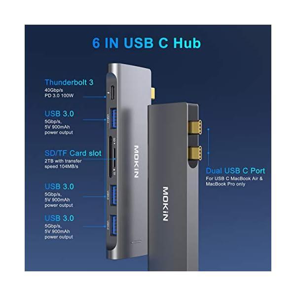 USB C Adapter for MacBook Air Pro 13 15 inch 2021 2020 2019 2018, MacBook Air Accessories Mac Adapter MacBook Pro Air…