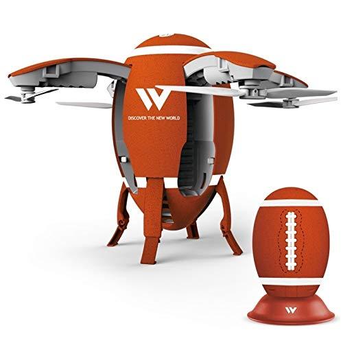 ZJM Drone Pieghevole per Bambini, Mini Drone UFO, Rugby WiFi Posizionamento Aereo in Tempo Reale Aereo Fisso A Quattro Assi, Giocattolo di Volo per Adulti per Bambini Intelligenti,Arancia