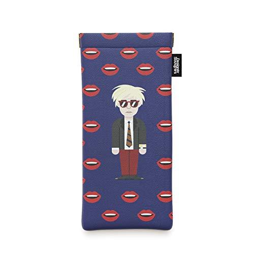 Designer Souvenirs - Funda para Gafas de Diseño Andy Warhol para Mujer y Hombre   Estuche para Guardar Gafas de Sol   Piel Sintética 100% Eco-Friendly   8,5x18x1cm   Colección Pop Art is for Everyone