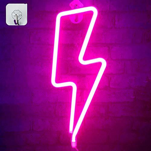 XIYUNTE Pink Neon Light Lightnin...