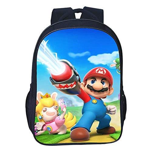 HZKF kinderrugzak 3 cartoon-basisschool rugzak dubbele schooltas Super Mario