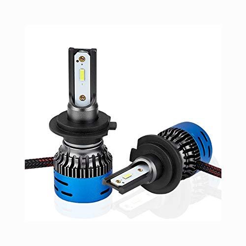 HF H7 Xenon gloeilamp, HIDDEN ombouwset, ombouwkit, buitenverlichting, 360 graden auto-gloeilamp, extern LED-licht (5000 lm, 50 W), 9005