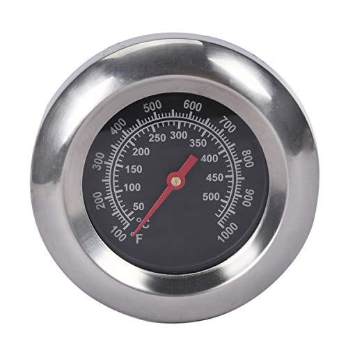 """GasSaf 3"""" BBQ Temperature Gauge Thermometer Replacement for Master Forge, Cuisinart, Backyard, Uniflame and Other Gas Grill, Stainless Steel High Temperature Heat Indicator -100F to 1000F"""