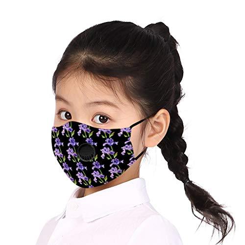 YYMQ de Boca, Reutilizable, de Proteccion Polvo, médico de carbón Activado, protección respiratoria, con Filtro de algodón y válvula de respiración(para niños)