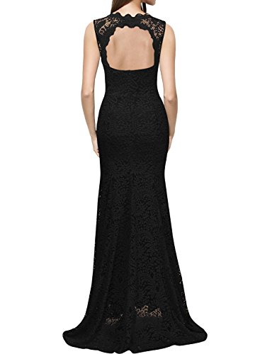 Miusol Kleid Spitzenkleid für Sommer Ruckelfrei und Ärmellos Brautjungferkleid Cocktailkleid - 2