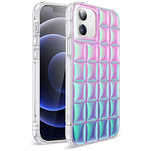 ESR Funda Elegante Compatible con iPhone 12/12 Pro, Funda Colorida, Estilo único, excelente protección, Funda Pop Style, Electric Ombre