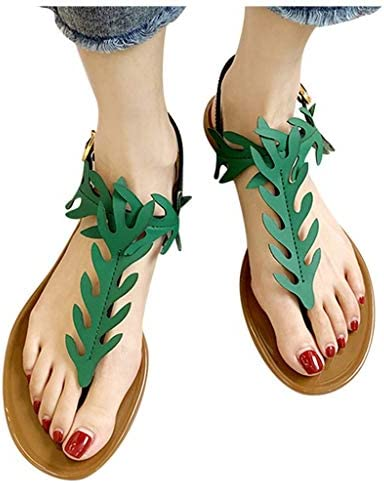 haoricu Womens Flat Shoes Summer Teen Girl Gladiator Open Toe Sandals Breathable Sandals Fashion product image