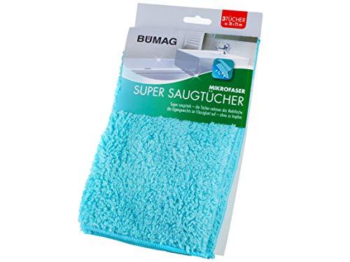 Mikrofaser Super Saugtücher im 3-Pack von BÜMAG eG - TOP Reinigungswirkung auch ohne Chemie
