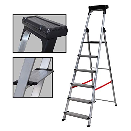Escalera Ancha de Aluminio ELITE PLUS (6 Peldanos)