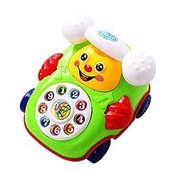 Gspose Plappertelefon Motorikspielzeug,Ziehen Sie Draht Telefon Baby Spielzeug,Telefon Spielzeug für Jungen und Mädchen