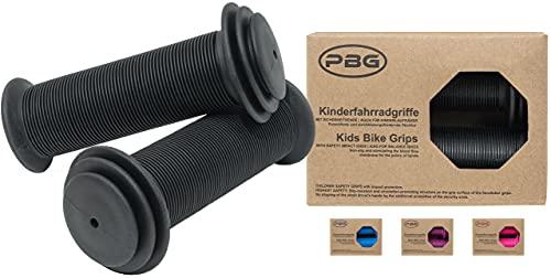 PBG Kinderfahrradgriffe Fahrradgriffe Kinder für Mädchen Jungen schadstofffrei   Phthalate frei (Schwarz)