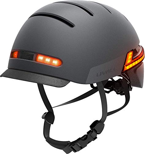 Livall BH51T Neo 2020 Smart Cycle Helmet with brake warning lights, indicators and fall-detection alert (Black)